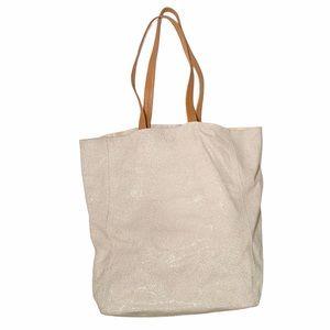 Sorial White Leather Large Rubina Tote Bag